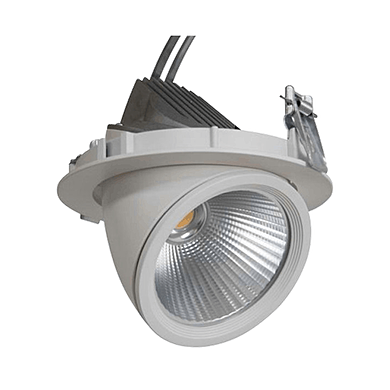 NBB GIMBAL LED COB DOWNLIGHT 20W/940 24° CRI90+ pr.145x120mm IP20