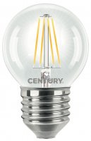 CENTURY LED FILAMENT MINI GLOBE ČIRÁ 4W E27 2700K 470Lm 360d 45x72mm IP20 CEN INH1G-042727