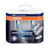 OSRAM H4 NIGHT BREAKER UNLIMITED 60/55W 12V 64193NBU-HCB duo box