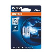 OSRAM W5W 2825HCBI-02B COOL BLUE INTENSE, 5W, 12V, W2.1x9.5d blistr duo box