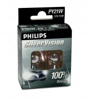 Philips PY21W SilverVision 12V 12496SVS2