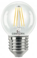 CENTURY LED FILAMENT MINI GLOBE ČIRÁ 6W E27 4000K 806Lm 360d 45x72mm IP20 CEN INH1G-062740