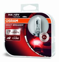 OSRAM H4 Night breaker SILVER +100% 64193NBS-HCB 60/55W 12V duobox