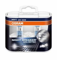 OSRAM H11 64211NBU-HCB NIGHT BREAKER ULIMITED 55W 12V +110% 2ks