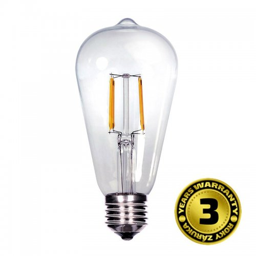 Solight LED žárovka retro, EDISON ST65, 8W, E27, 3000K, 360°, 810lm WZ526