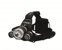 Solight LED čelová svítilna SUPER POWER, 900lm, 3x Cree LED, 4x AA