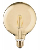 CENTURY LED FILAMENT GLOBE 125mm EPOCA 8W E27 2200K 630Lm 360d 125x174mm IP20 CEN INVG125-082722