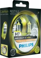 Philips H7 ColorVision Yellow 12V 12972CVPYS2