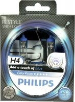 Philips H4 ColorVision Blue 12V 12342CVPBS2