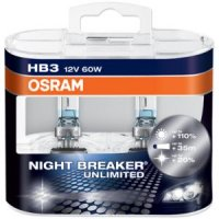 OSRAM HB3 Night breaker UNLIMITED 9005NBU-HCB 60W 12V duobox