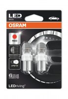 OSRAM LED PR21W 7556R-02B RED 12V 2W BA15s