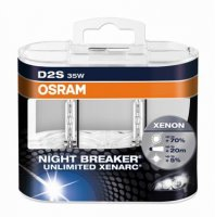 OSRAM XENARC D2S 66240XNB-HCB Night Breaker UNLIMITED 35W P32d-2 duobox až +70%