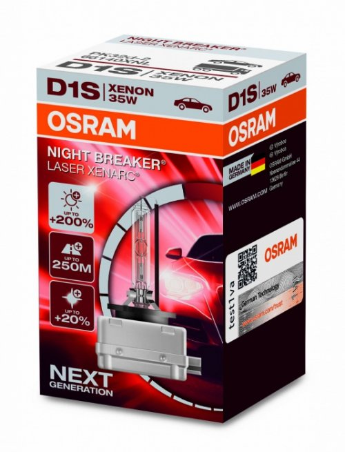 osram xenarc d1s night breaker laser 66140xnl 35w 200. Black Bedroom Furniture Sets. Home Design Ideas