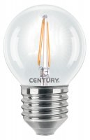 CENTURY LED FILAMENT MINI GLOBE ČIRÁ 2W E27 2700K 245Lm 360d 45x72mm IP20 CEN INH1G-022727