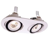 Downlight Shop II v�klopn� LED 2x15W 4000K 500mA DC b�l� - LIGHT IMPRESSIONS