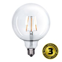 Solight LED žárovka retro, Globe G125, 8W, E27, 3000K, 360°, 810lm