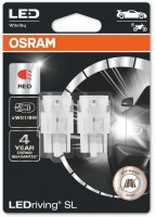 OSRAM LED W21/5W 7515DRP-02B RED 12V 2,4W W3x16q