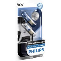 Philips H6W WhiteVision 12V 12036WHVB2