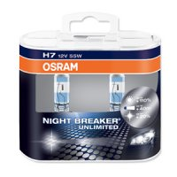 OSRAM H7 64210NBU-HCB NIGHT BREAKER UNLIMITED 55W 12V duo box