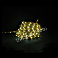 LED p�sek SMD3528 �lut�, DC12V, IP68, 8mm, b�l� PCB p�sek, 30 led/metr