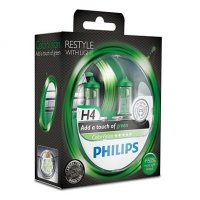 Philips H4 ColorVision Green 12V 12342CVPGS2