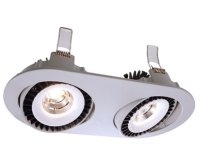 Downlight Shop II v�klopn� LED 2x15W 4000K 500mA st��brn� - LIGHT IMPRESSIONS