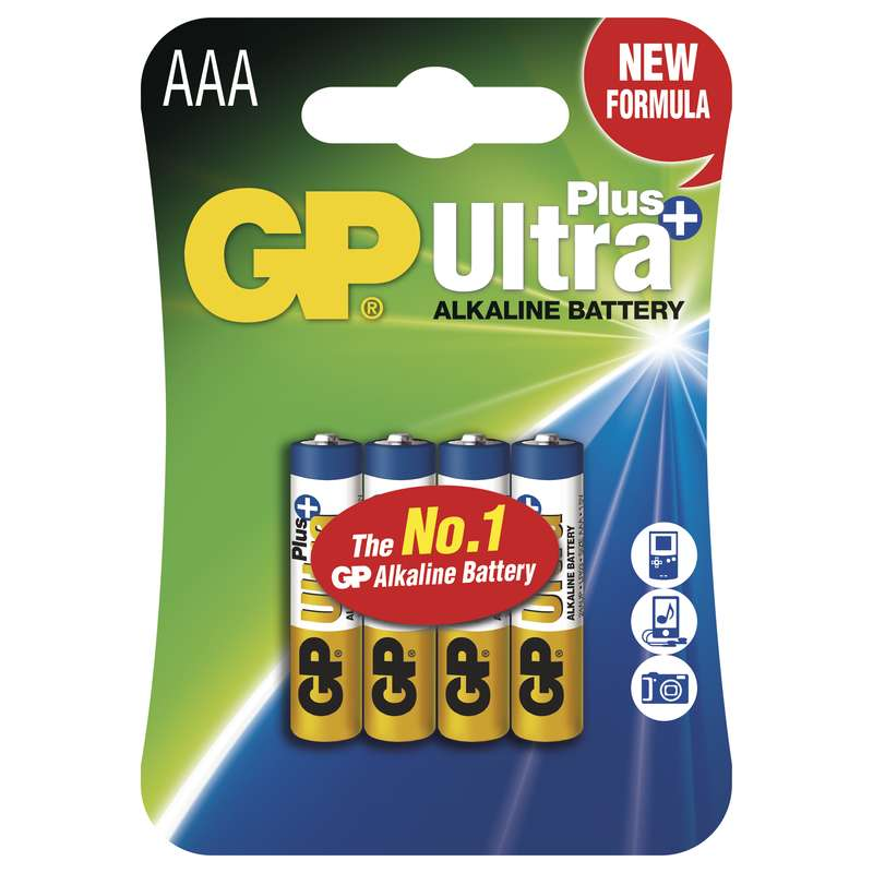 GP Alkalická baterie GP Ultra Plus LR03 (AAA), blistr 1017114000