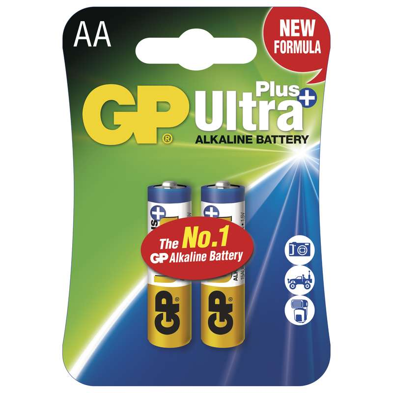 GP Alkalická baterie GP Ultra Plus LR6 (AA), blistr 1017212000