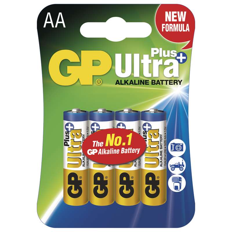GP Alkalická baterie GP Ultra Plus LR6 (AA), blistr 1017214000