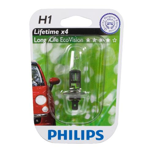 Philips LongLife Eco Vision 12258LLECOB1 H1 P14,5s 12V 55W
