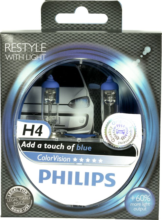 Philips ColorVision Blue 12342CVPBS2 H4 P43t-38 12V 60/55W