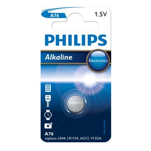 Philips Alkaline LR44 1ks A76/01B
